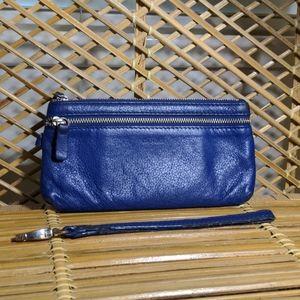 Wristlet - Danier Leather - Dark Blue